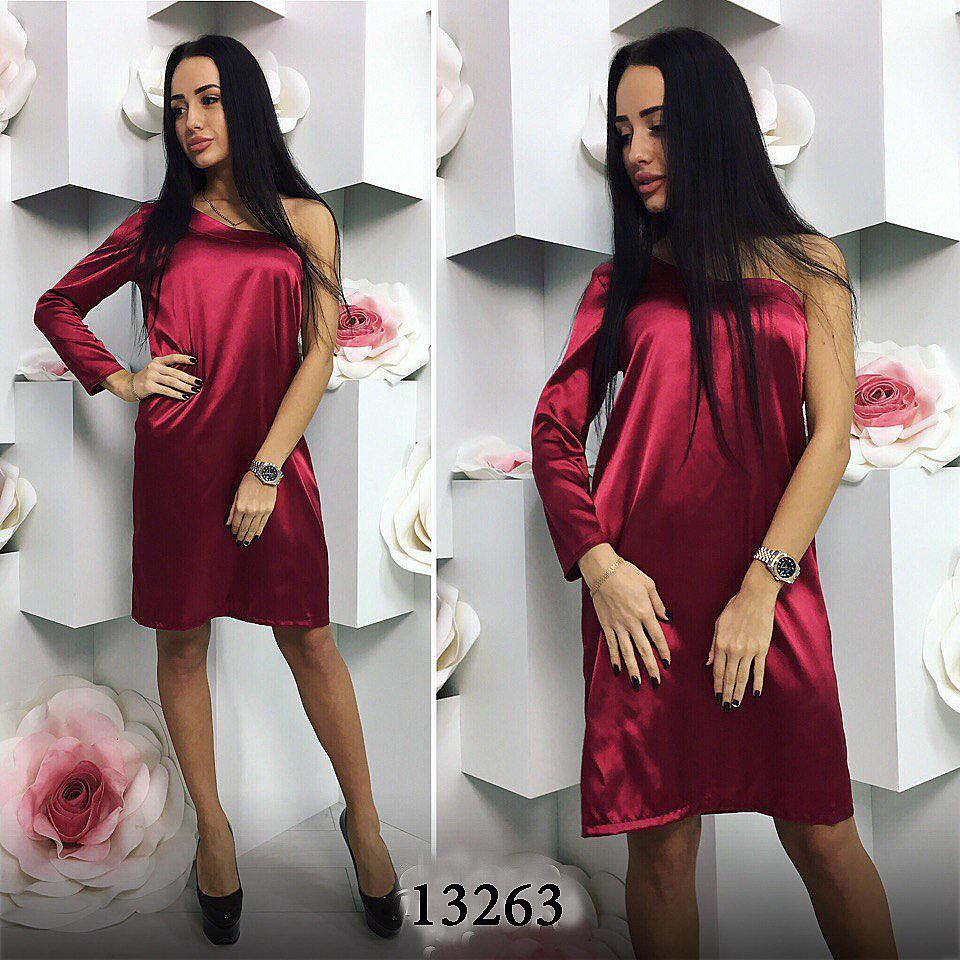 Купить-бордовое-вечернее-платье