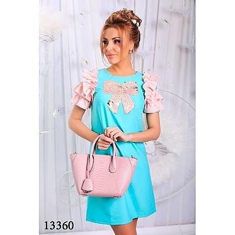 Вечернее-мятное-платье-купить-Москва