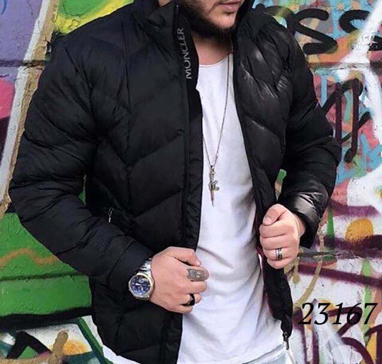 1accf690 Стильная мужская куртка MONCLER теплая на зиму 23167 купить недорого